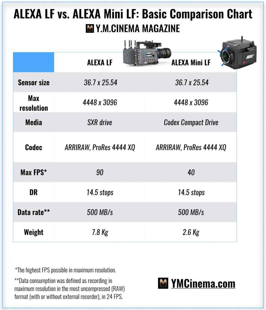 Comparativa Alexa MINI LF Vs Alexa LF